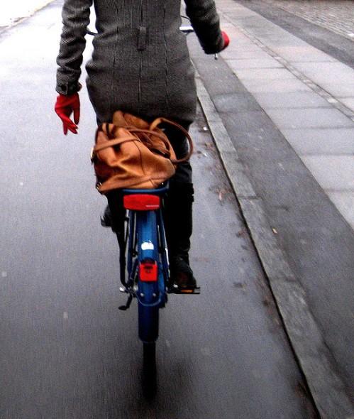 bicicleta y el frio